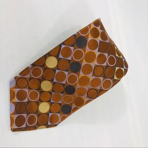 Ted Baker London Brown, Blue & Gold Circles Tie